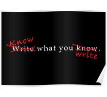 Writing Advice in White Poster