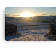 Sunrise and Field Canvas Print