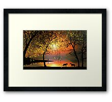 At The Sunset Framed Print