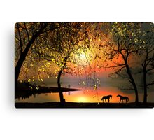 At The Sunset Canvas Print