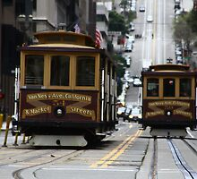 California Street Cable Cars by fototaker