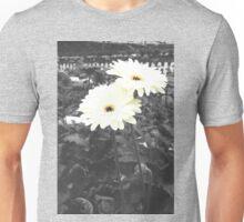 White flower (selective color) Unisex T-Shirt