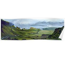 The Quiraing - Isle of Skye, Scottish Landscape Painting Poster