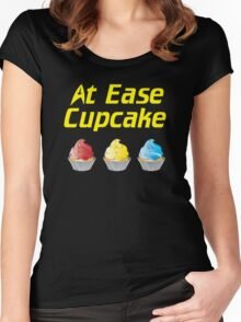 At Ease Cupcake Women's Fitted Scoop T-Shirt