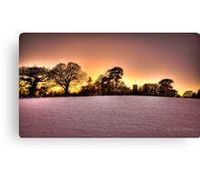 Snowy Sun Set Canvas Print