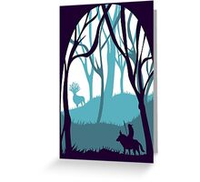Mononoke and The Forest Spirit v.2 Greeting Card