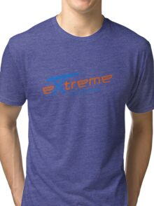 Extreme ironing (color) Tri-blend T-Shirt