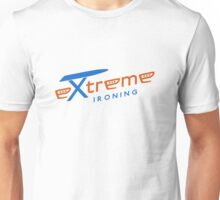Extreme ironing (color) Unisex T-Shirt