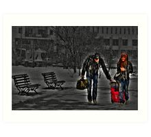 Winter vacations.... Art Print