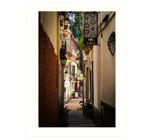 Streets of Seville  Art Print