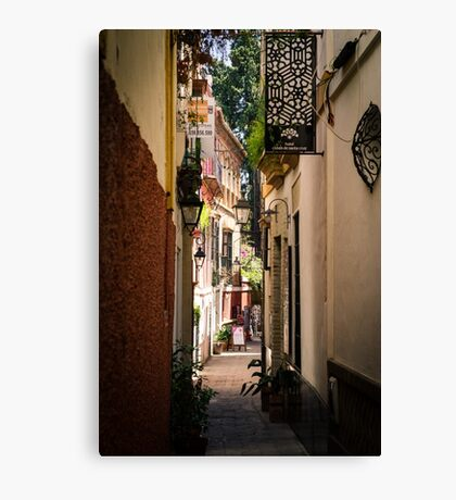 Streets of Seville  Canvas Print