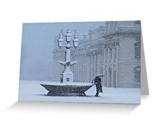 Fountain in Snow Greeting Card