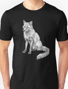 Sitting fox illustration Unisex T-Shirt