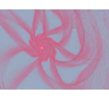 Pink Fractal Flower Photographic Print