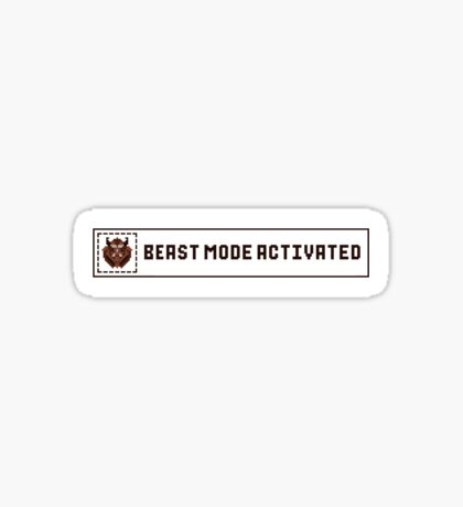 Beast Mode Activated Sticker
