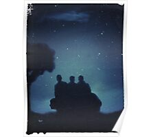 Watching the Night Sky - Slightly Distressed Poster