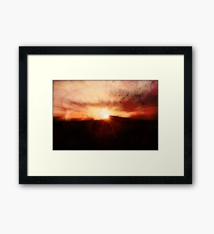If one only had something to eat... Framed Print