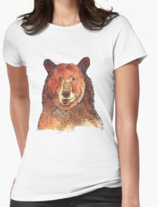 Brown Bear Womens Fitted T-Shirt