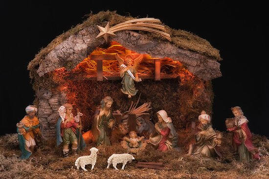 Christmas Nativity Scene by JHRphotoART