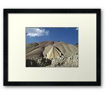 Camoflaged Tent Framed Print