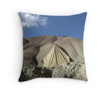 Camoflaged Tent Throw Pillow