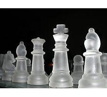 Glass Chess Set Photographic Print