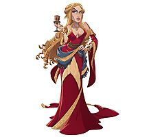 Cersei Illustrated Pin Up Photographic Print