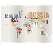 World Map in Words 2 Poster