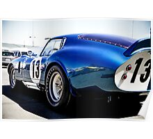 Shelby Cobra Racing Car Poster