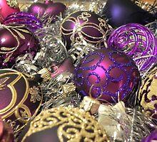 Study on purple Christmas baubles by Kiriel