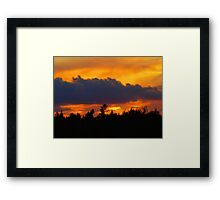 saturday sunset Framed Print