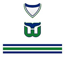 Hartford Whalers 1985-92 Home Jersey Photographic Print