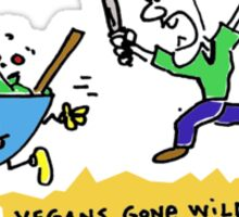 Vegans Gone Wild !!! COLOR design Sticker