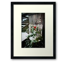 Antiques & Old Stuff for Christmas Framed Print