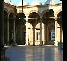 Courtyard of the Mosque of Mohammed Ali by Laurel Talabere