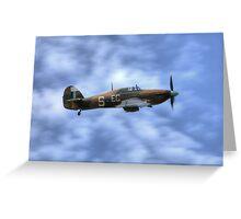 Battle of Britain Memorial flight Hurricane PZ865 (Mk IIc) Greeting Card