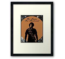 Dune - Paul Atriedes - The Sleeper Has Awakened Framed Print