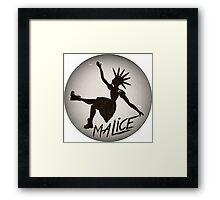 Vintage Malice Logo Framed Print