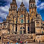 Spain. Santiago de Compostela. Catherdral in the afternoon. by vadim19