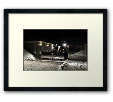 Swedish Snow Plow Framed Print