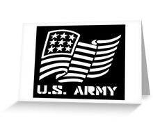 U.S. ARMY MILITARY AMERICAN FLAG SOLDIER Greeting Card