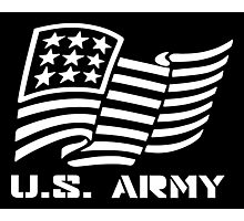 U.S. ARMY MILITARY AMERICAN FLAG SOLDIER Photographic Print