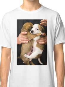 Dog hugging Classic T-Shirt