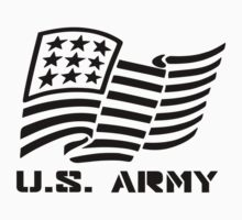 U.S. ARMY MILITARY AMERICAN FLAG SOLDIER One Piece - Short Sleeve