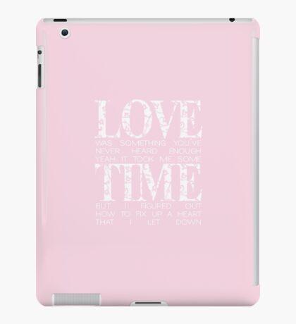 love = time iPad Case/Skin