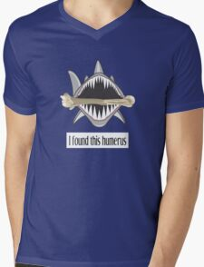 Shark Found This Humerus Mens V-Neck T-Shirt
