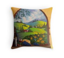 Tuscano's rest. mural Throw Pillow