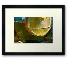 Soda Lemon Framed Print