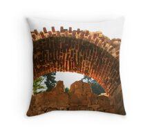 Arch at Alexandria's Roman Amphitheater Throw Pillow
