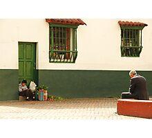 Two generations Bogota Photographic Print
